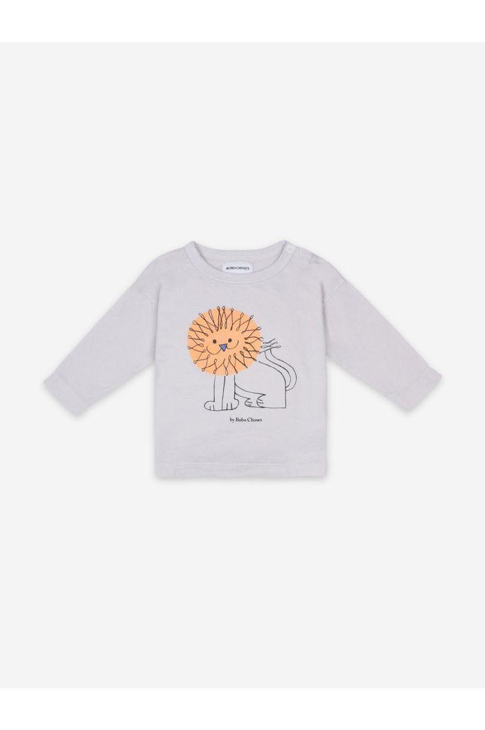 Bobo Choses Pet A Lion Long Sleeve T-shirt Quiet Gray_1