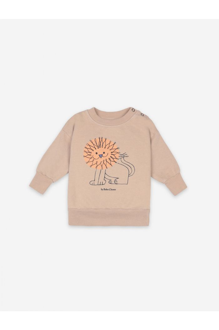 Bobo Choses Pet A Lion Sweatshirt Brush_1