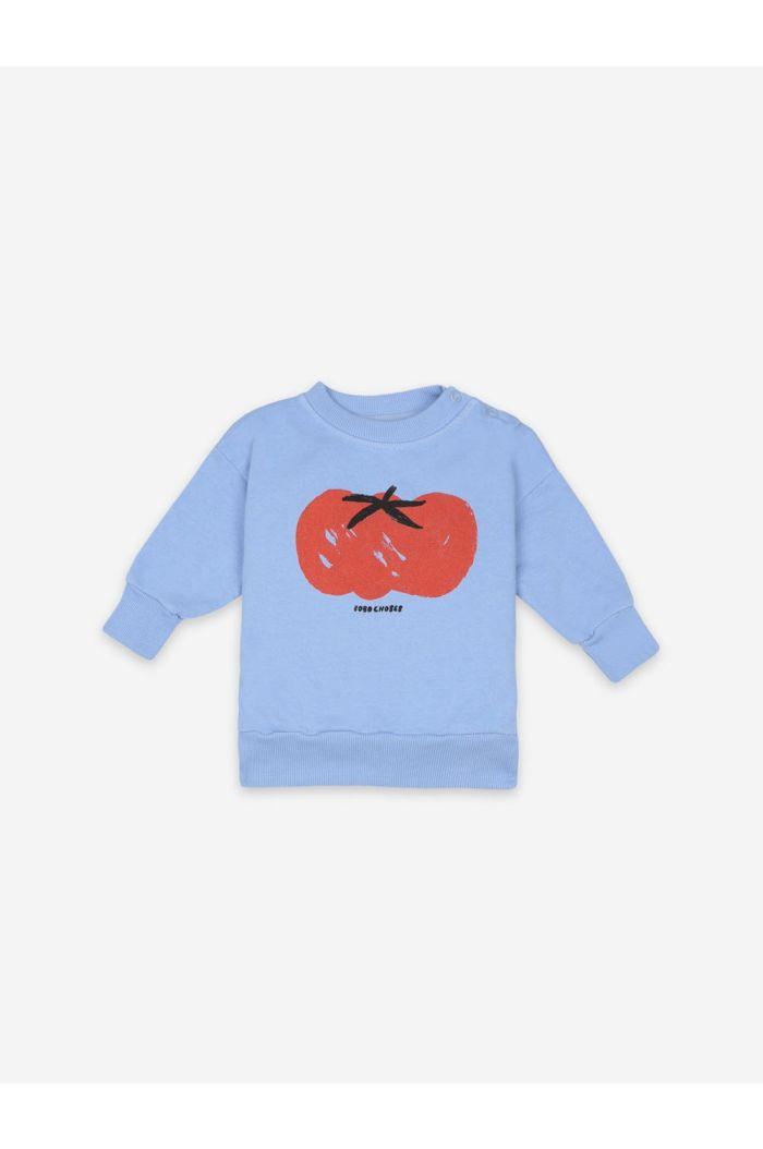 Bobo Choses Tomato Sweatshirt Powder Blue_1