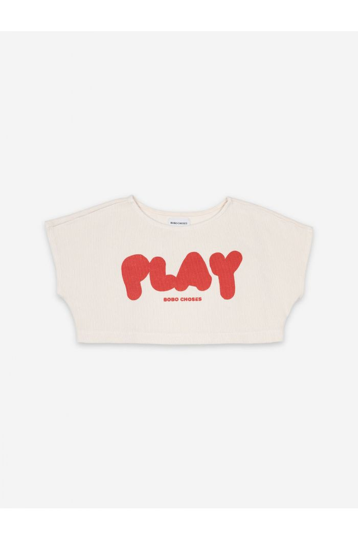 Bobo Choses Play Cropped Sweatshirt Turtledove_1