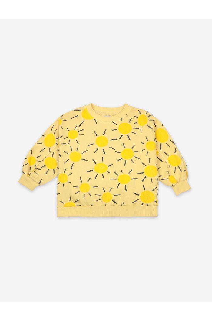 Bobo Choses Sun All Over Sweatshirt Custard_1