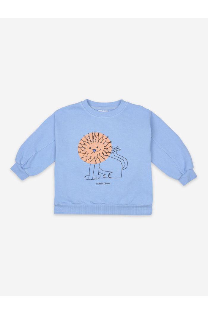 Bobo Choses Pet A Lion Sweatshirt Powder Blue_1
