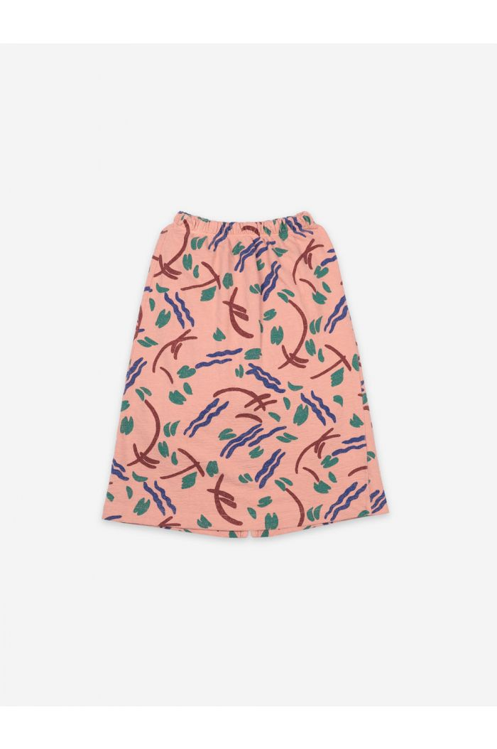 Bobo Choses Strokes All Over Jersey Midi Skirt Dusty Pink_1