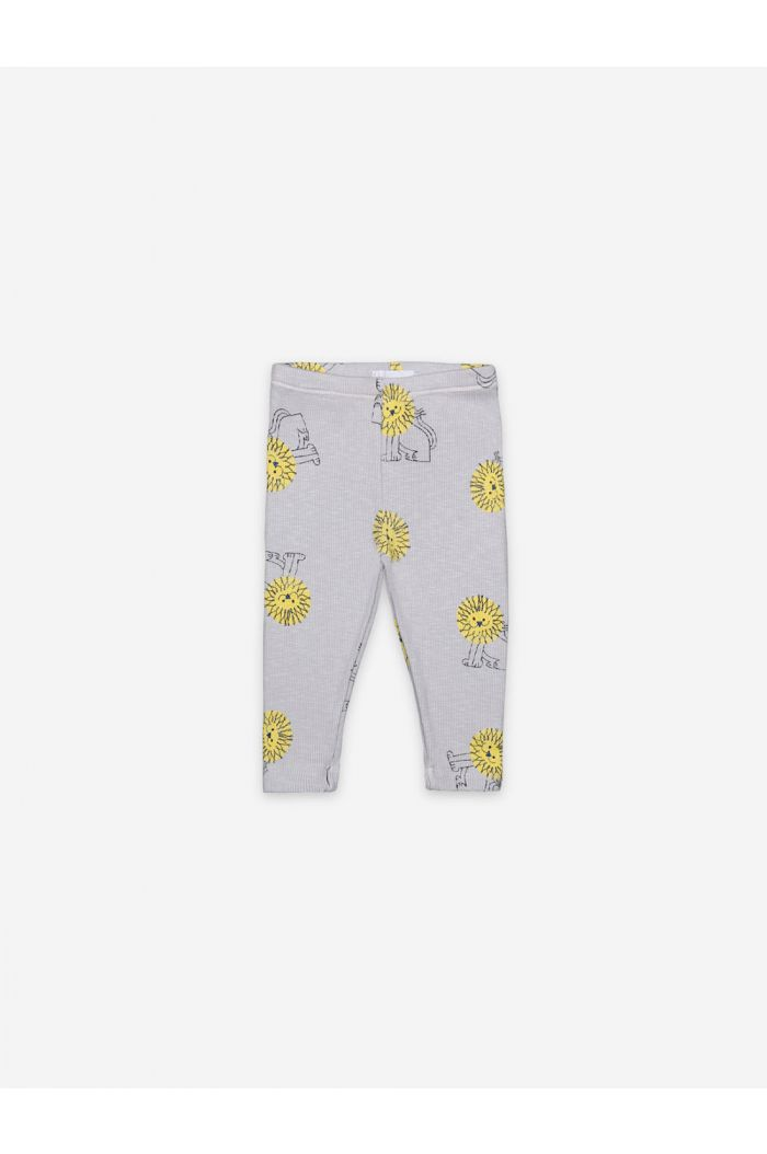 Bobo Choses Pet A Lion All Over Leggings Quiet Gray_1