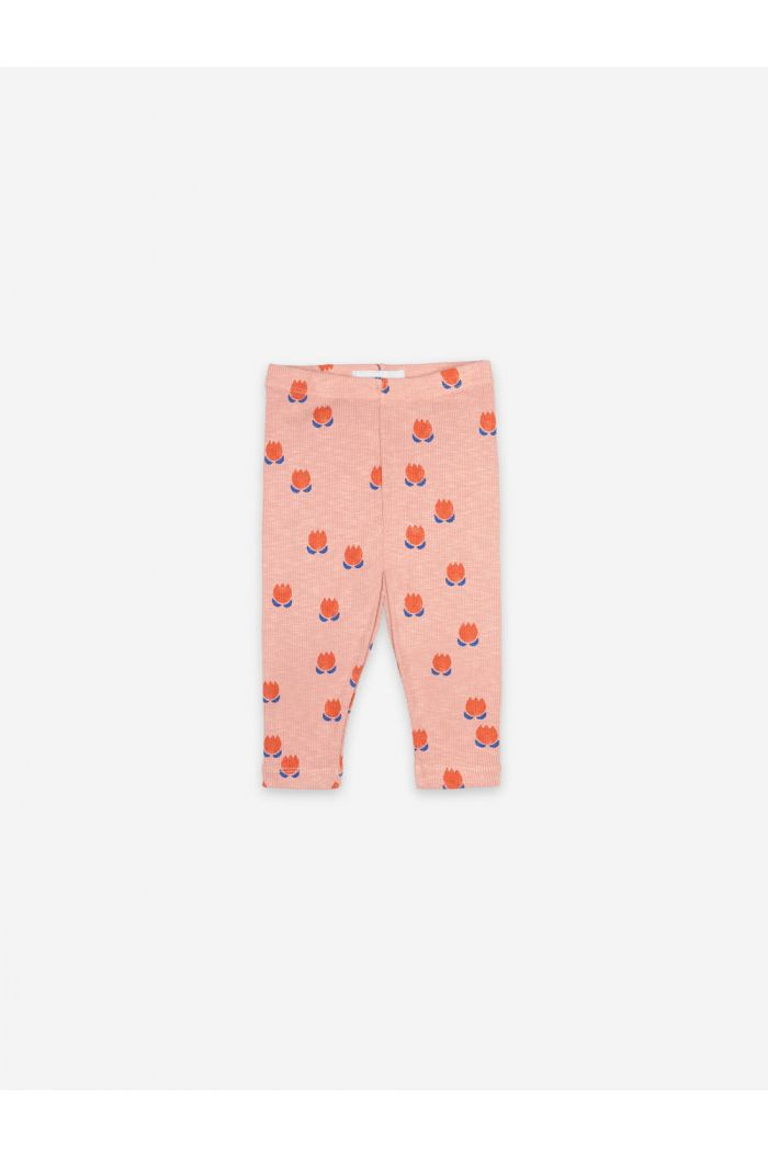 Bobo Choses Chocolate Flowers All Over Leggings Dusty Pink_1