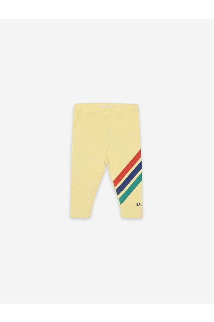 Bobo Choses Crosswise Stripes Leggings Custard_1