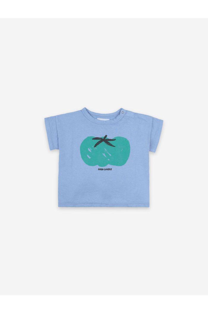 Bobo Choses Tomato Short Sleeve Baby T-shirt Powder Blue