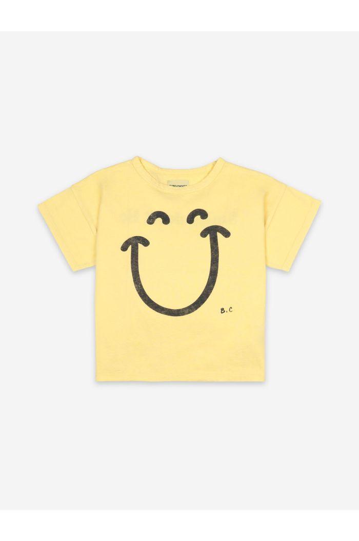 Bobo Choses Big Smile Short Sleeve T-Shirt Custard_1