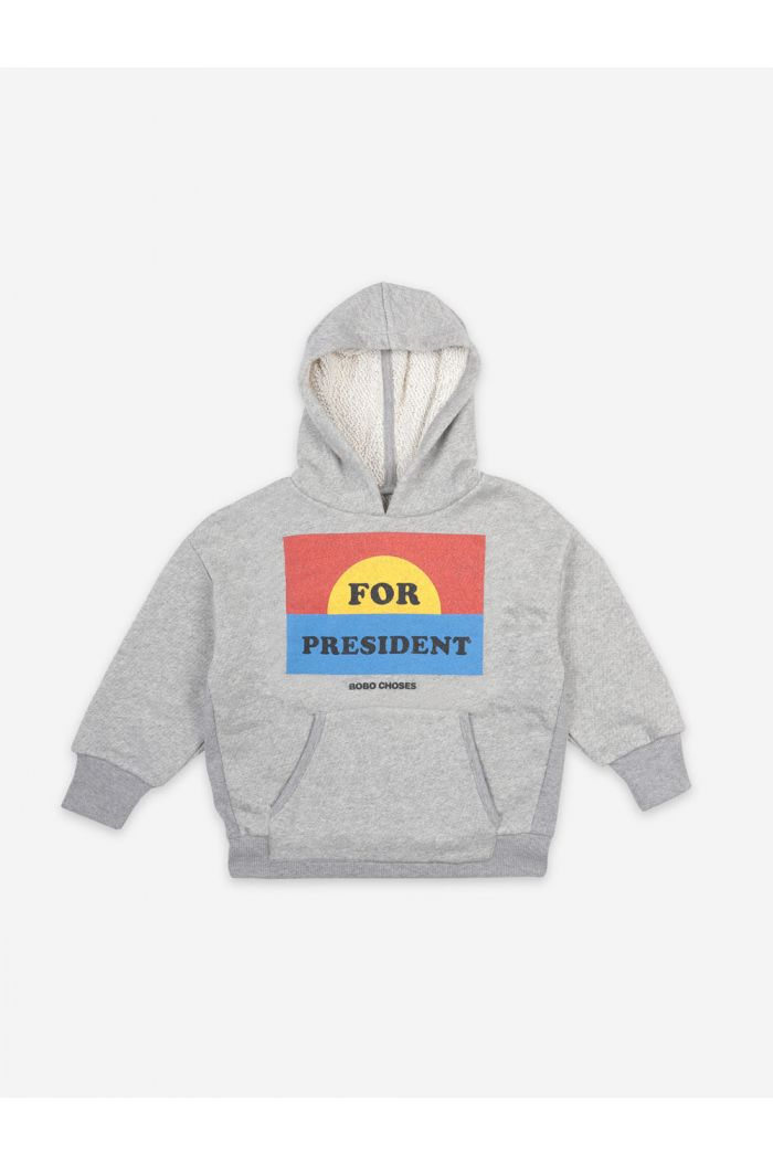 Bobo Choses For President Hoodie Quiet Gray_1