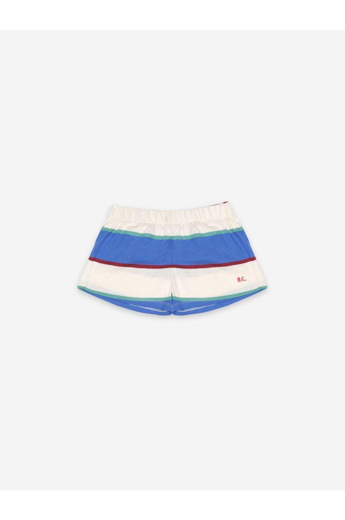 Bobo Choses Stripes Jersey Shorts Turtledove_1