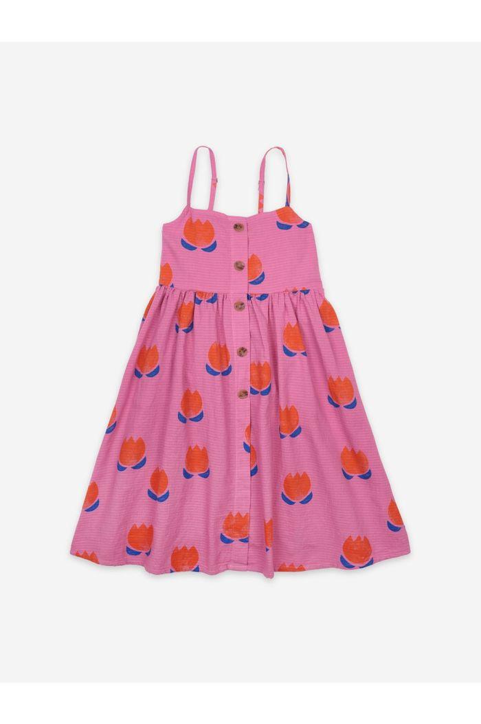 Bobo Choses Chocolate Flowers All Over Woven Dress Dahlia Mauve_1