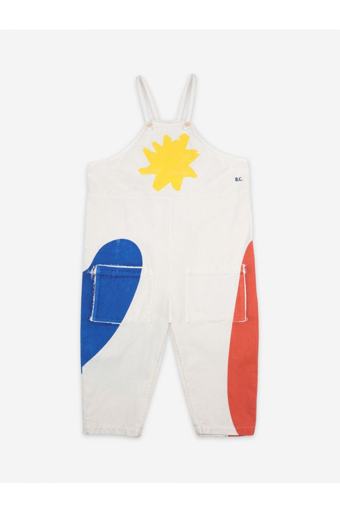Bobo Choses Landscape Dungaree Custard_1