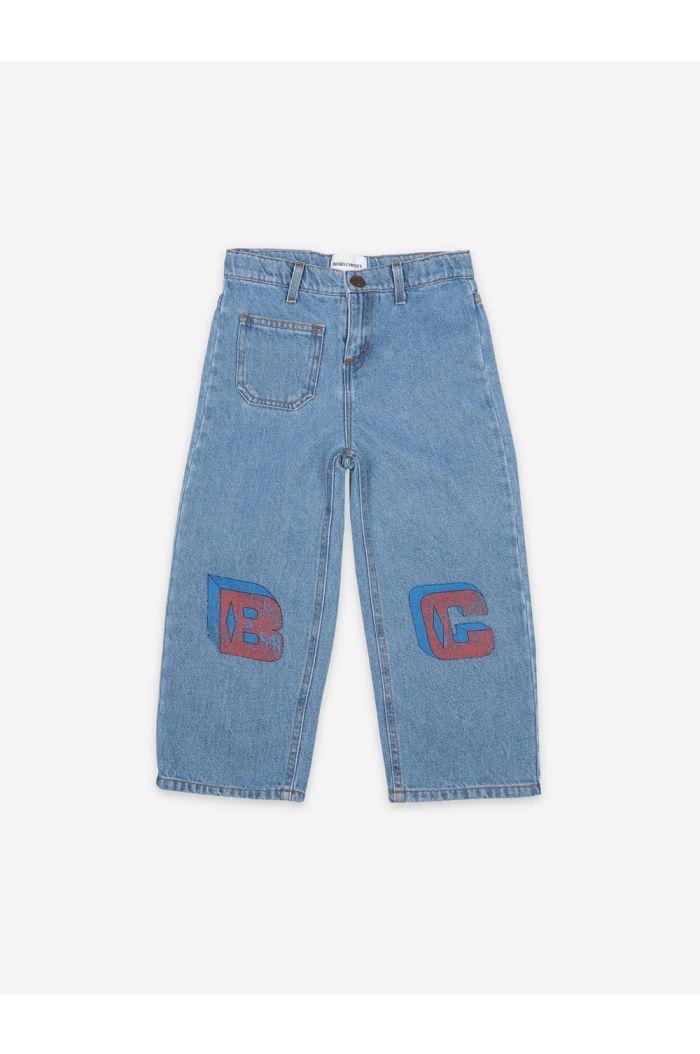 Bobo Choses B C Squared Denim Pants Swedish Blue_1