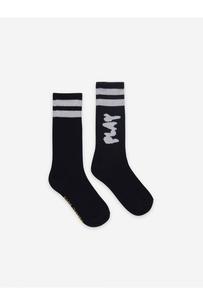Bobo Choses Play Black Long Socks December Sky_1