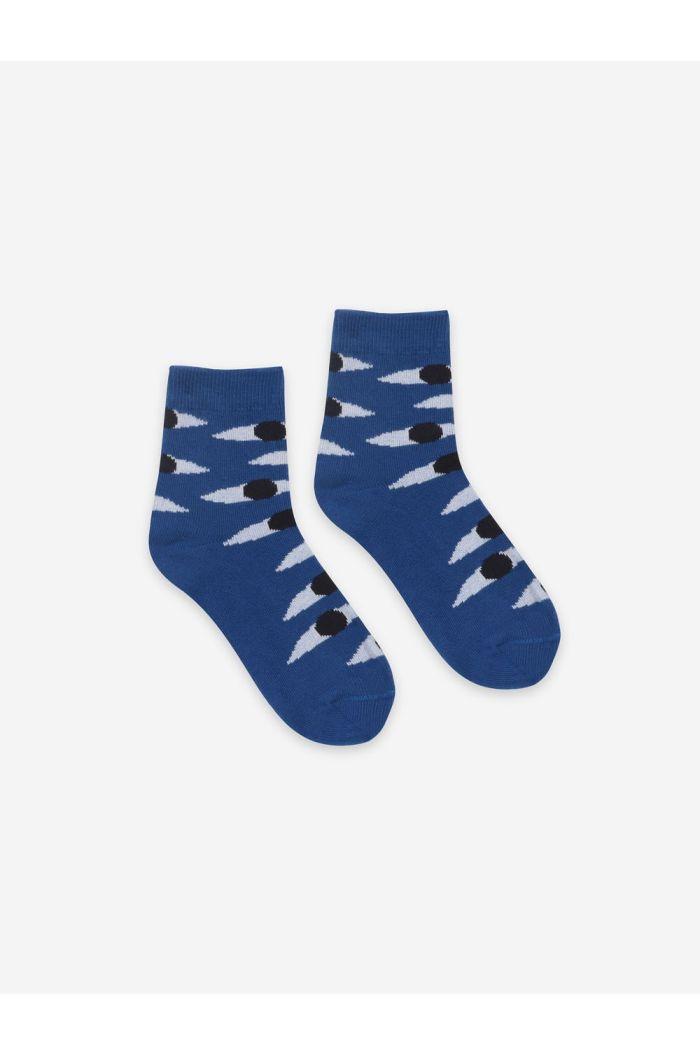 Bobo Choses Eyes Blue Short Socks nautical Blue_1