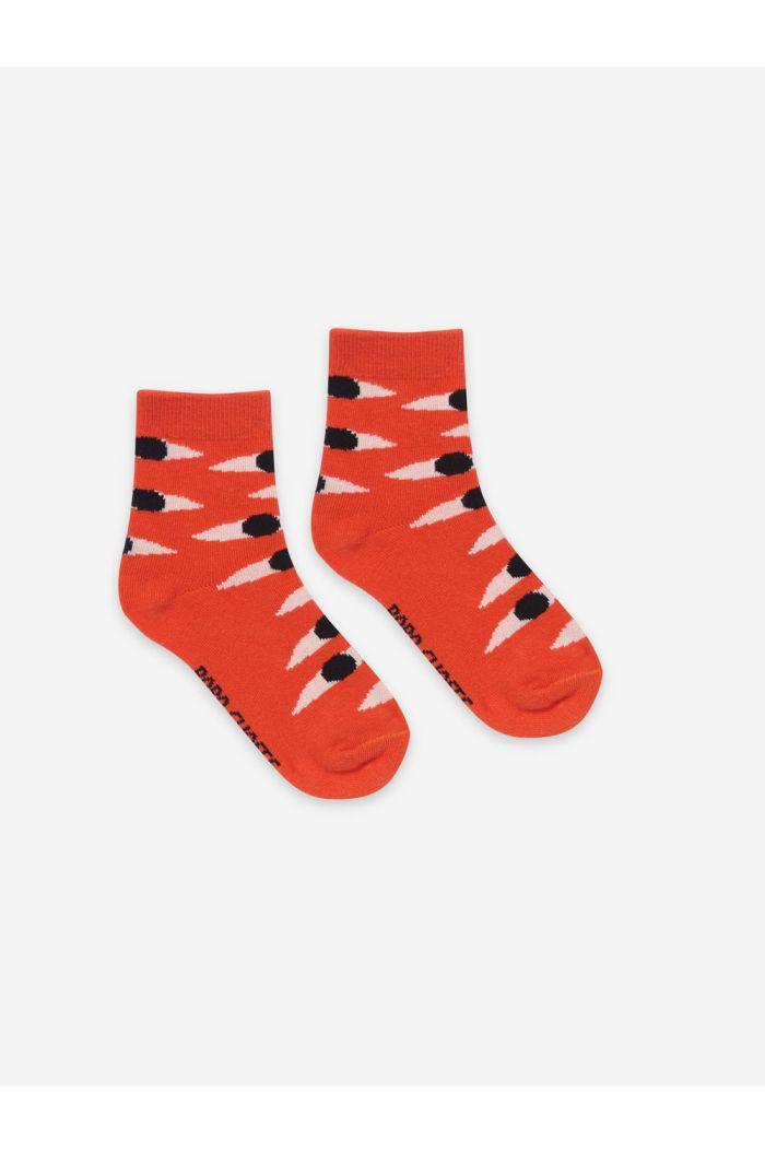 Bobo Choses Eyes Red Short Socks Melon_1