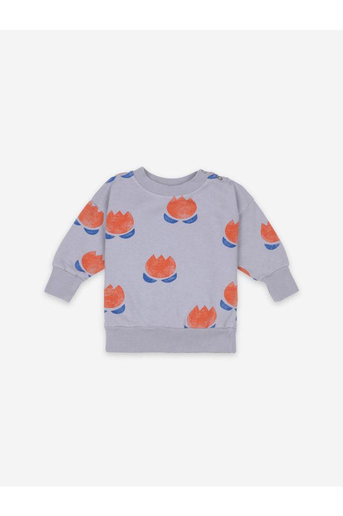 Bobo Choses Chocolate Flower Sweatshirt Lavender Aura_1