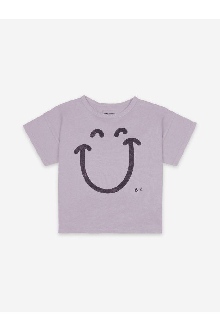 Bobo Choses Big Smile Lilas Short Sleeve T-shirt Lavender Aura_1