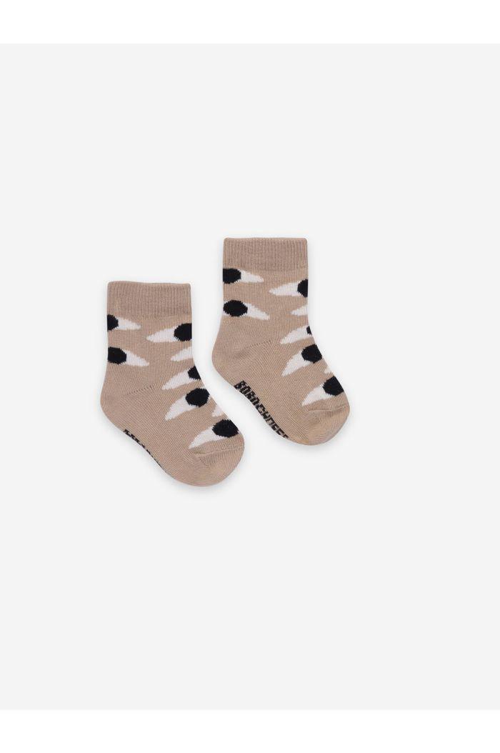 Bobo Choses Eyes Beige Baby Socks Turtledove_1