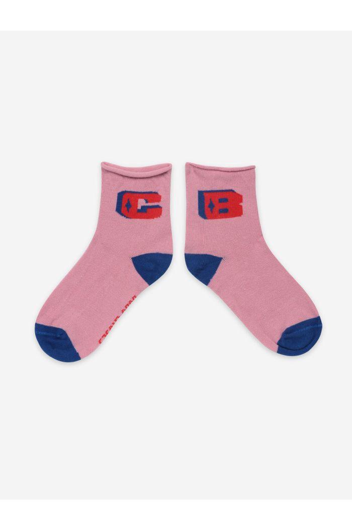 Bobo Choses Pink BC Short Socks Dusty Pink_1