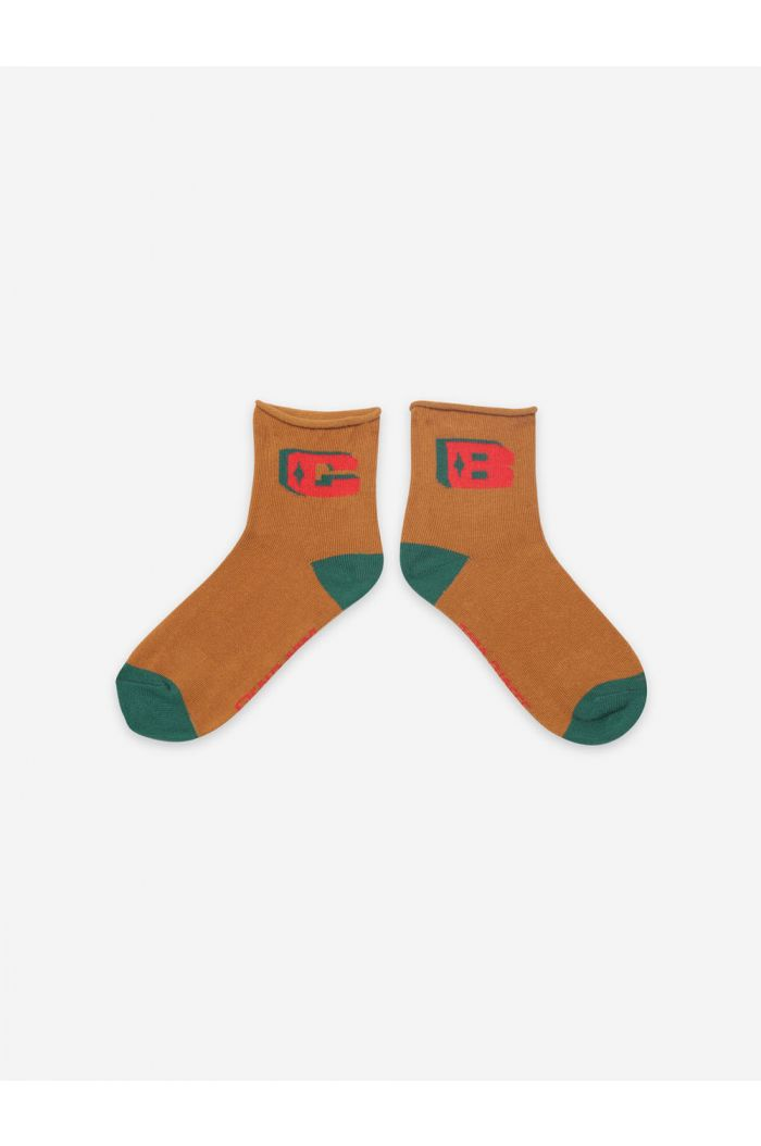 Bobo Choses Brown BC Short Socks Topaz_1