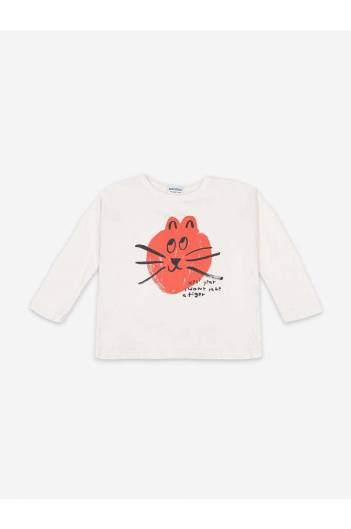 Bobo Choses Cat Longsleeve T-shirt Cream_1