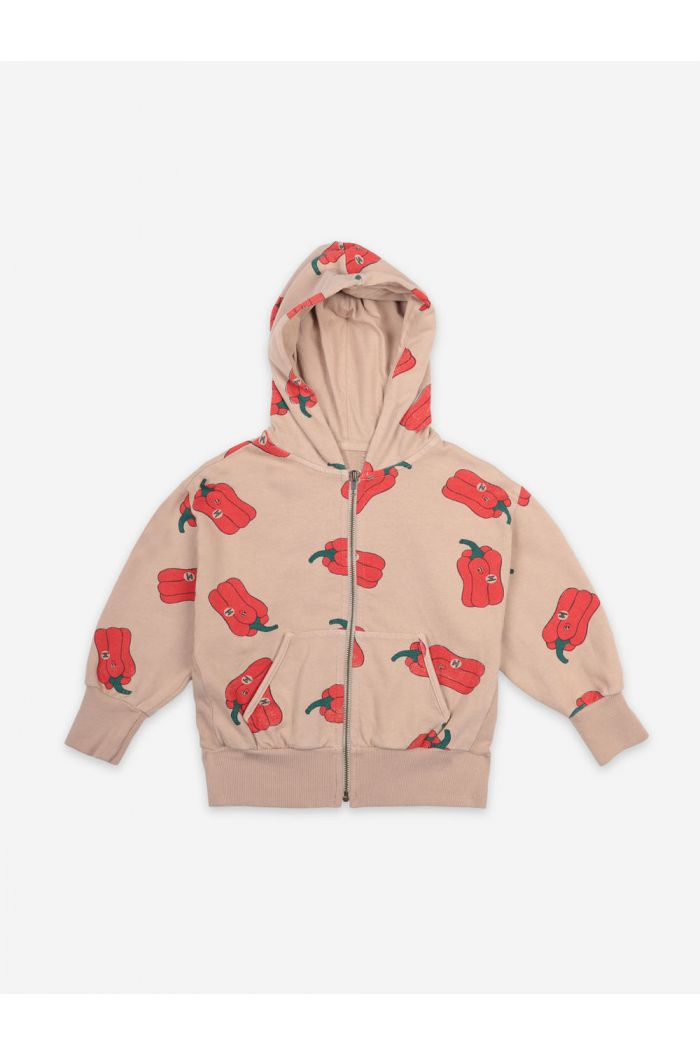 Bobo Choses Vote For Pepper All Over Zipped Hoodie Brush_1