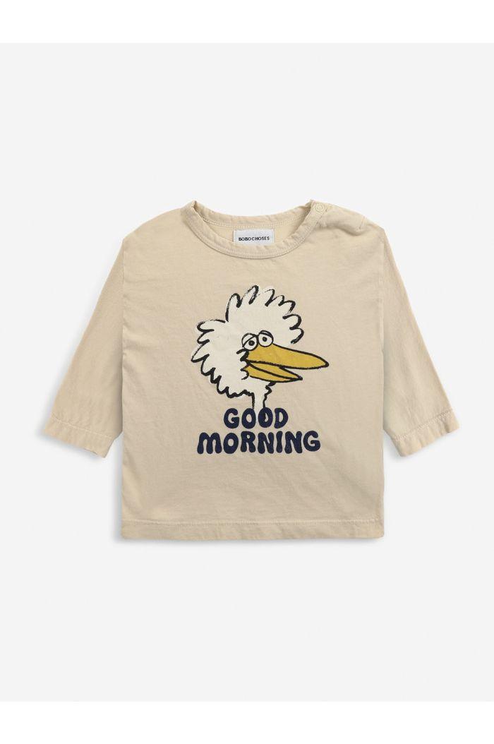 Bobo Choses Birdie long sleeve T-shirt Baby Soybean_1