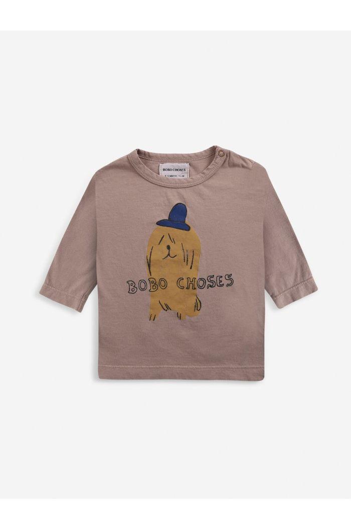 Bobo Choses Dog In The Hat long sleeve T-shirt Tuscany_1
