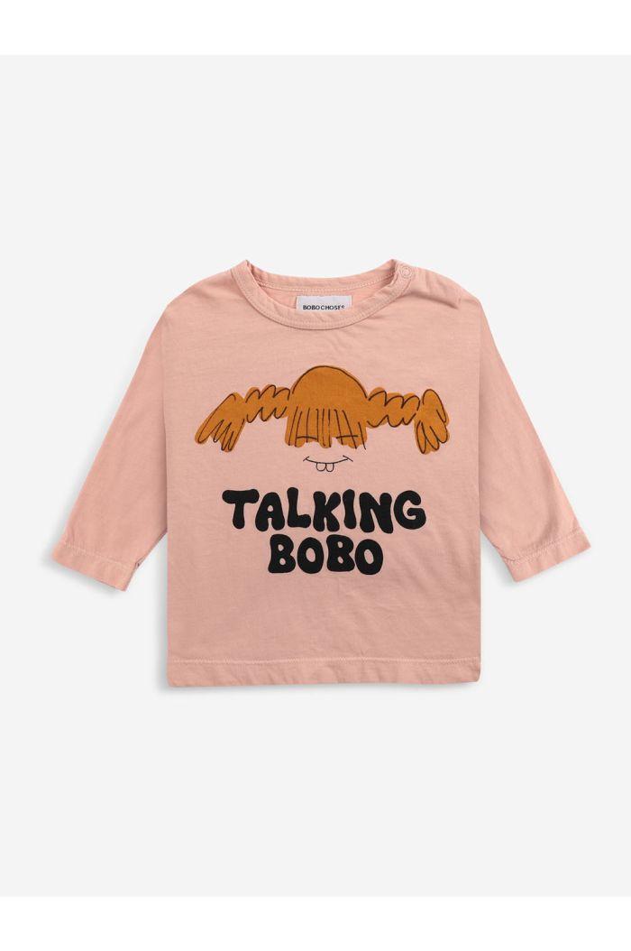 Bobo Choses Girl long sleeve T-shirt Rose Cloud_1