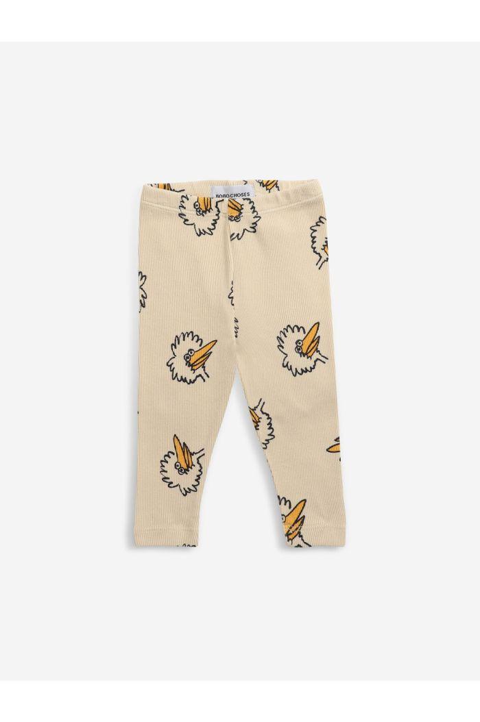 Bobo Choses Birdie All Over leggings Soybean_1