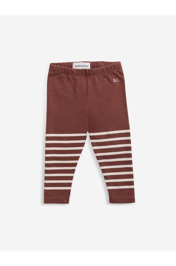 Bobo Choses Stripped leggings Tandoori Spice_1