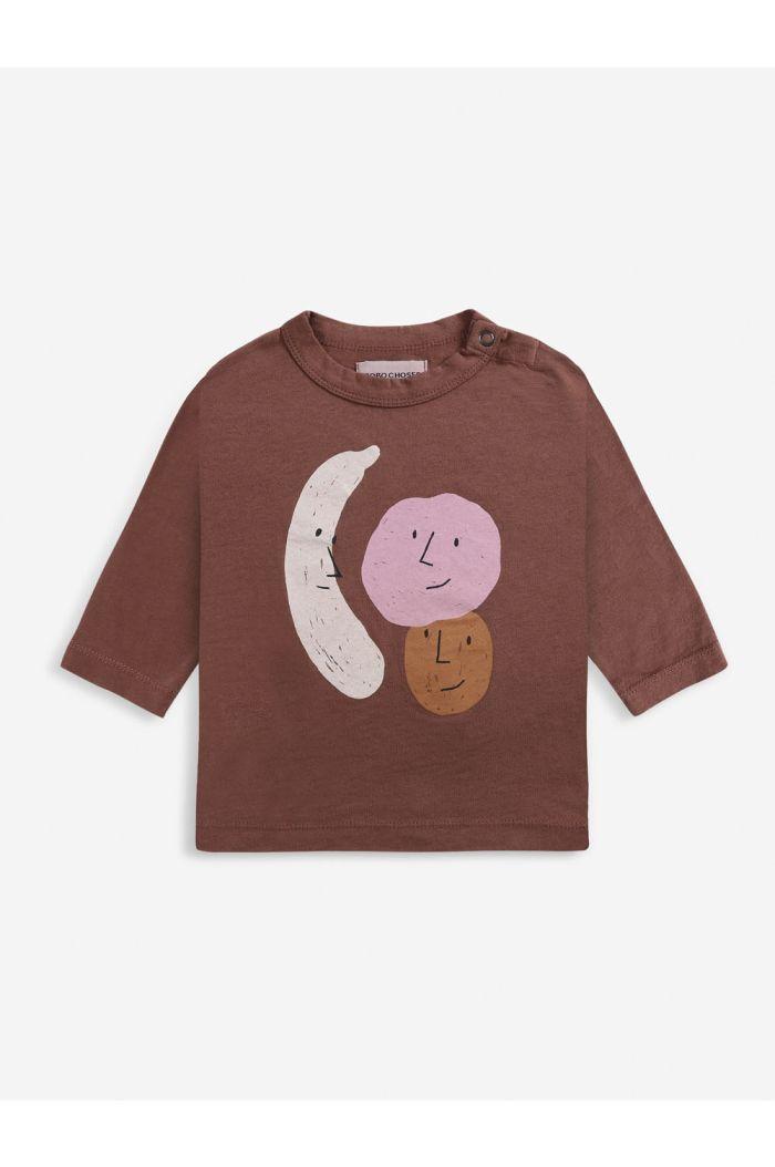 Bobo Choses Fruits long sleeve T-shirt Baby Tandoori Spice_1