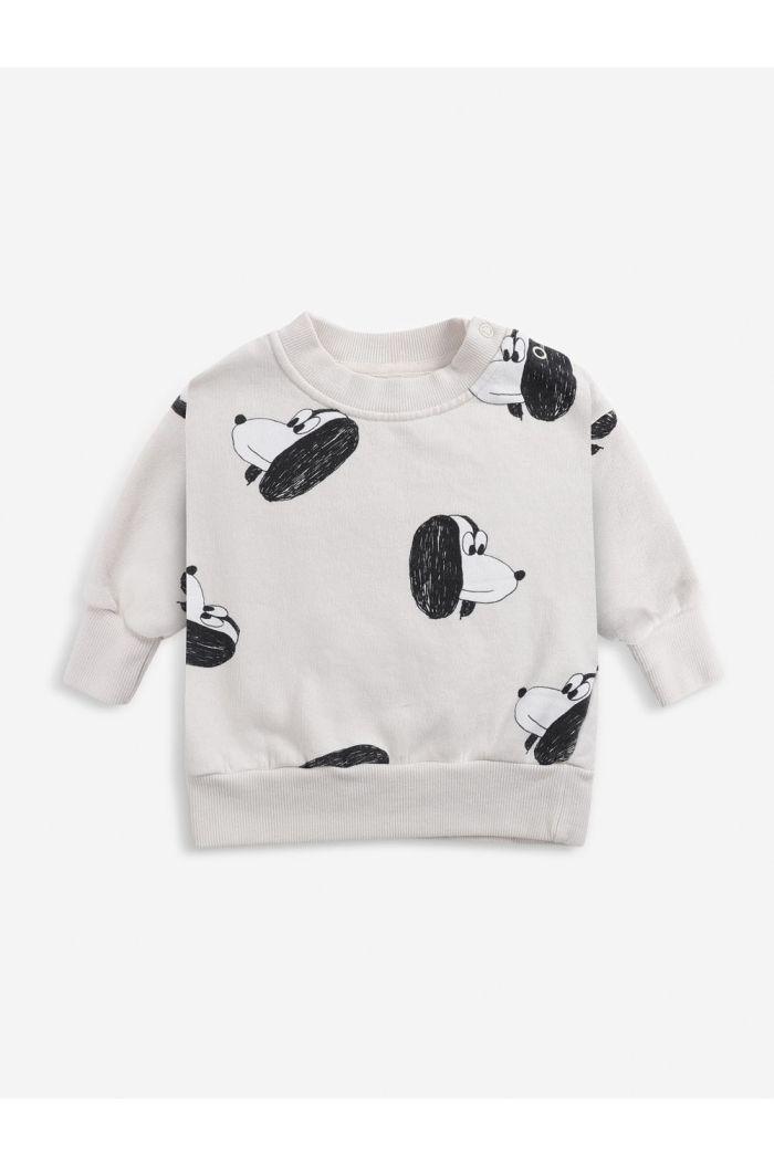 Bobo Choses Doggie All Over sweatshirt Baby Jet Stream_1
