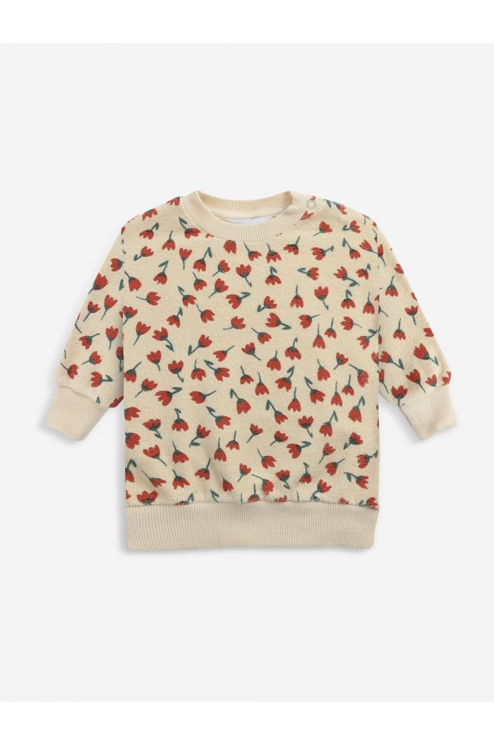 Bobo Choses Flowers All Over terry sweatshirt Soybean_1