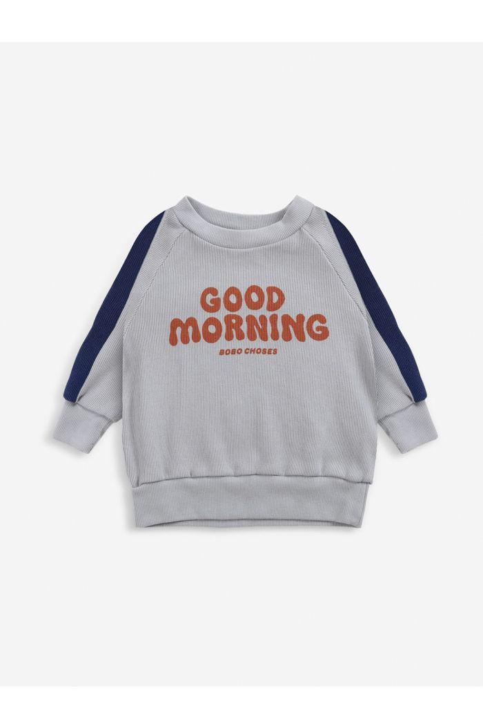 Bobo Choses Good Morning sweatshirt Baby Gray Violet_1