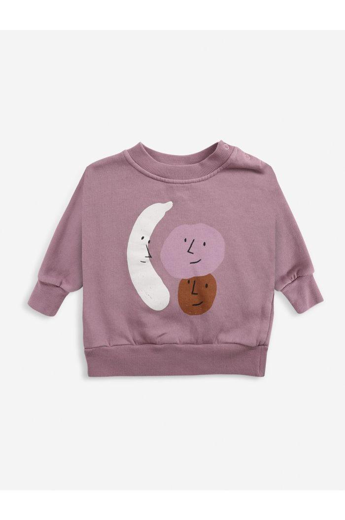 Bobo Choses Fruits sweatshirt Baby Mesa Rose_1