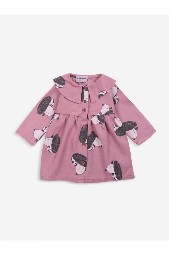 Bobo Choses Doggie All Over buttoned woven dress Mesa Rose_1