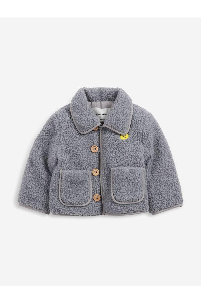 Bobo Choses Face embroidery sheepskin jacket Tuscany_1