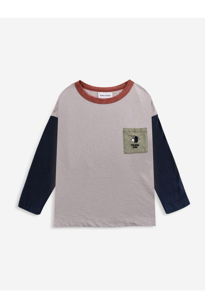 Bobo Choses Doggie long sleeve T-shirt Royal Blue_1