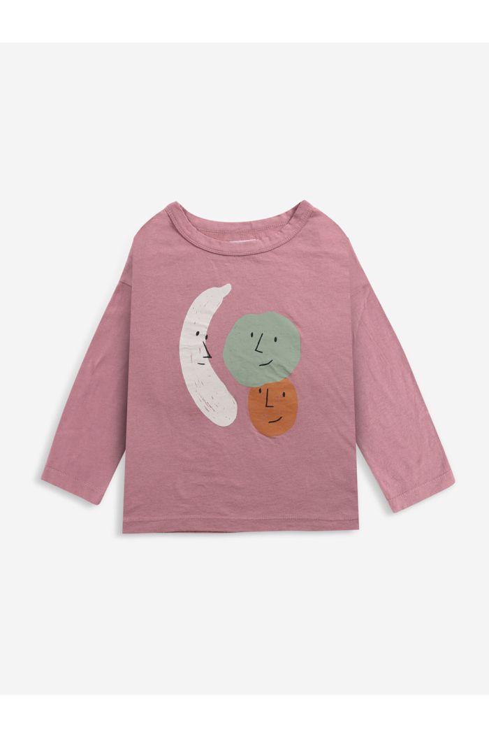 Bobo Choses Fruits long sleeve T-shirt Mesa Rose_1