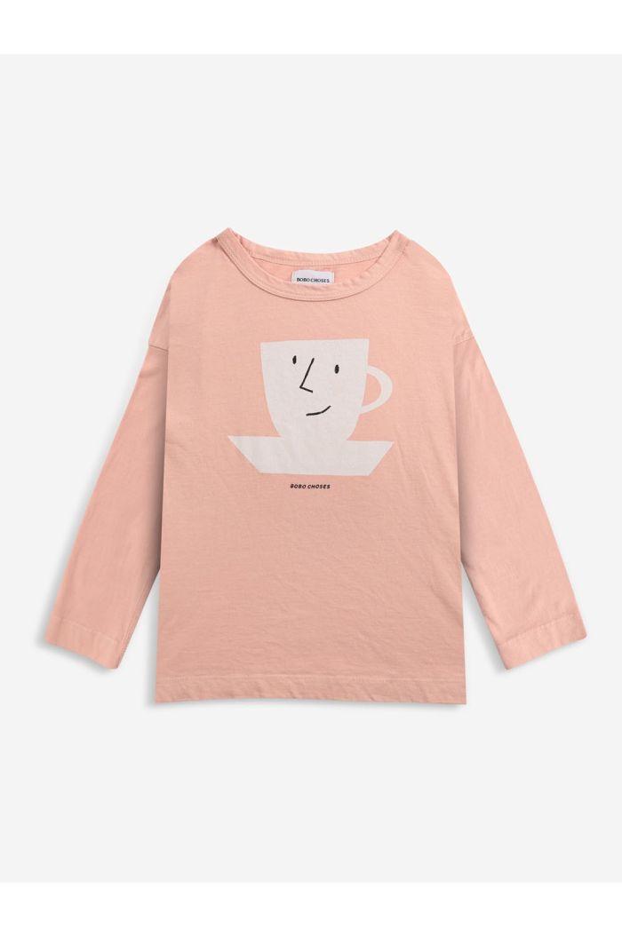 Bobo Choses Cup Of Tea long sleeve T-shirt Rose Cloud_1
