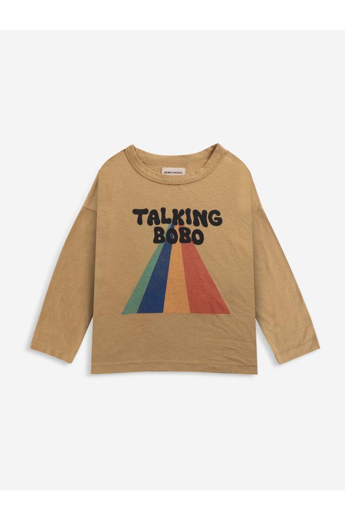 Bobo Choses Talking Bobo Rainbow long sleeve shirt Apple Cinnamon_1