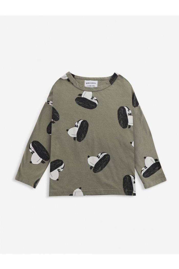Bobo Choses Doggie All Over long sleeve T-shirt Dried Herb_1