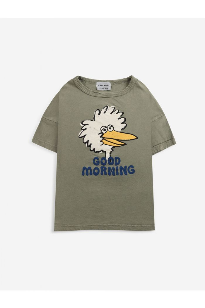 Bobo Choses Birdie T-shirt Dried Herb_1