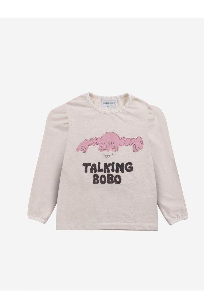 Bobo Choses Girl Talk girl T-shirt Jet Stream_1