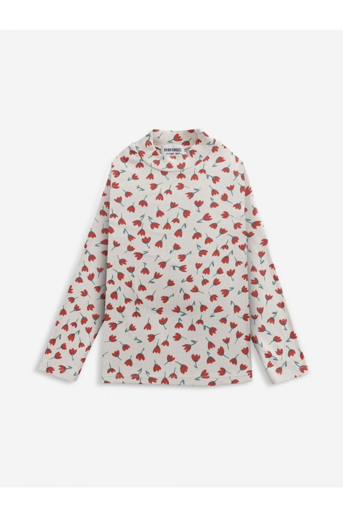 Bobo Choses Flowers All Over turtle neck Jet Stream_1