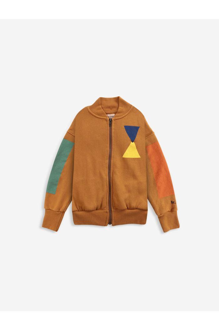 Bobo Choses Geometric zipped sweatshirt Inca Gold_1