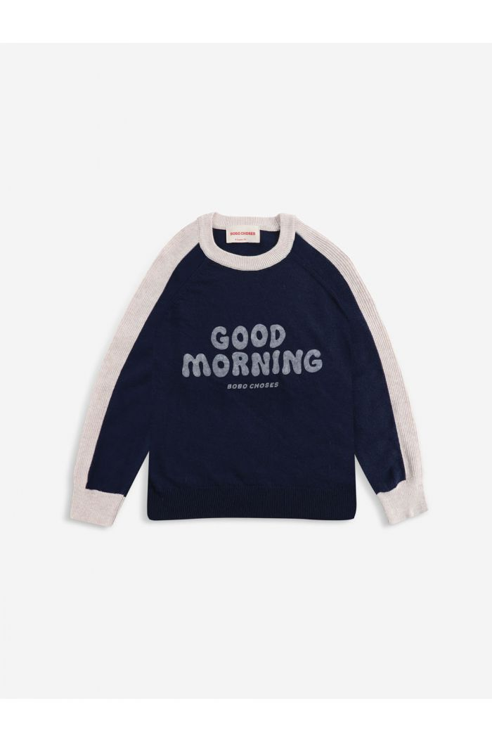 Bobo Choses Good Morning knitted jumper Twilight Blue_1