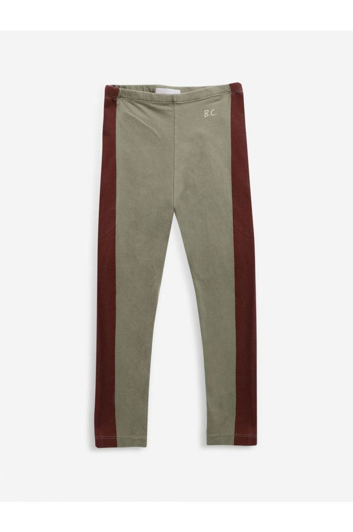 Bobo Choses Maroon Stripes leggings Dried Herb_1